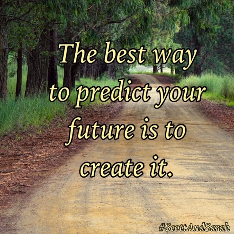 de beste manier om de toekomst te voorspellen is door het zelf te creëren