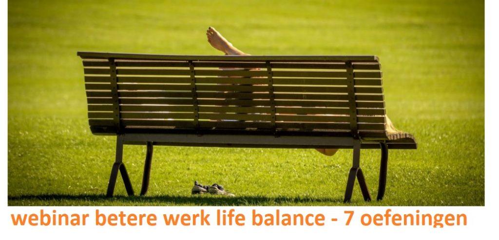 webinar beter work life balance